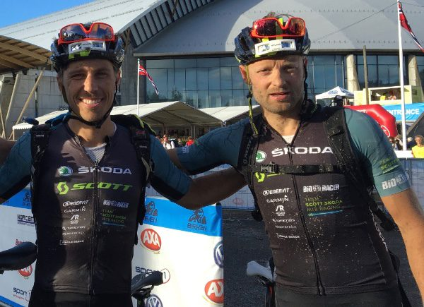 Calle Friberg and Henrik Sparr in former Team Scott Skoda